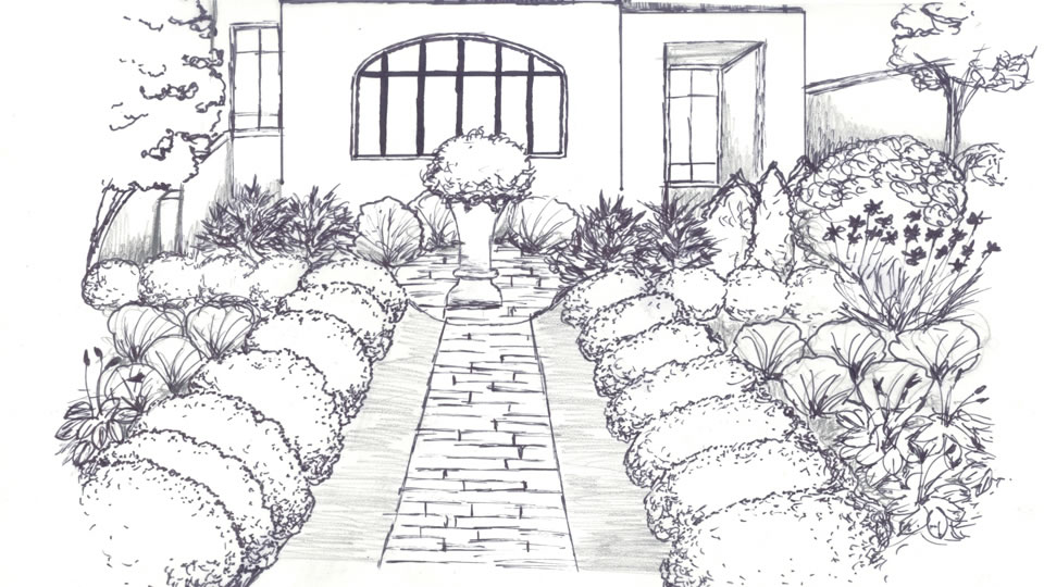 Landscape design ideas premier landscape architecture for Garden design sketches